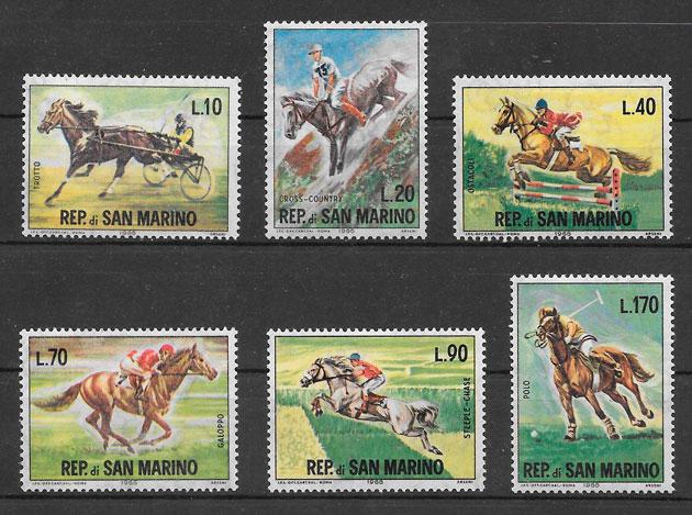 colección sellos deporte San Marino 1966