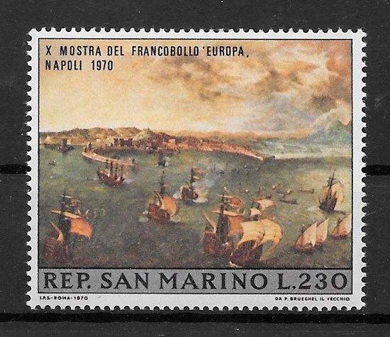 filatelia arte San Marino 1969