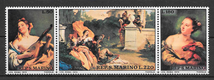 filatelia arte San Marino 1970
