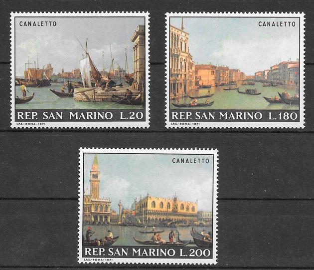filatelia colección arte San Marino 1971