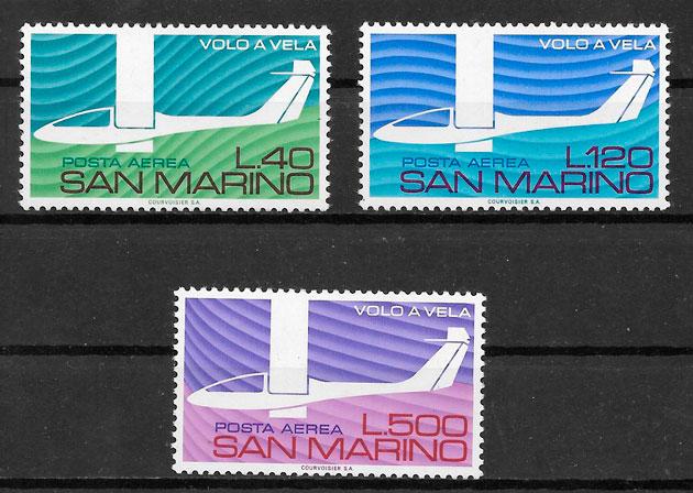 colección sellos transporte San Marino 1974