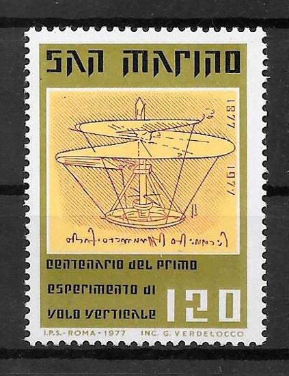 filatelia transporte San Marino 1977