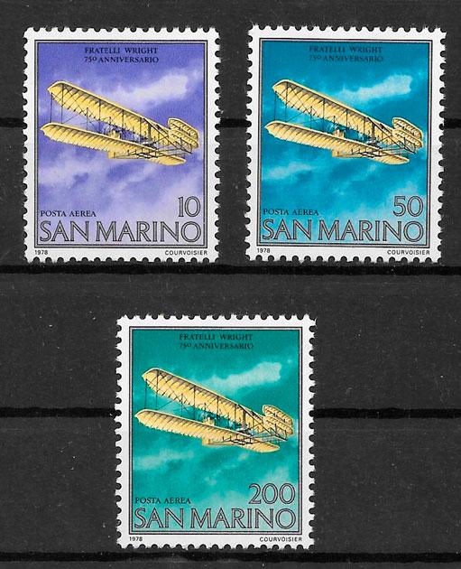 filatelia transporte San Marino 1978