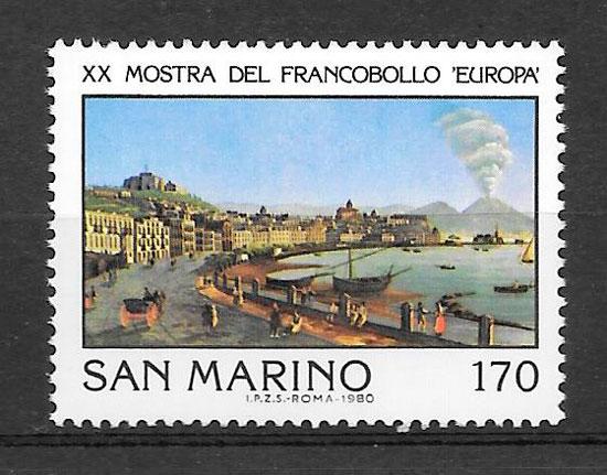 filatelia colección arte San Marino 1980