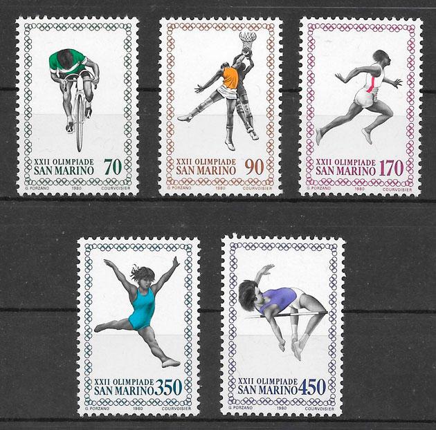 sellos deporte San Marino 1980