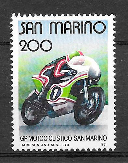 sellos deporte San Marino 1981