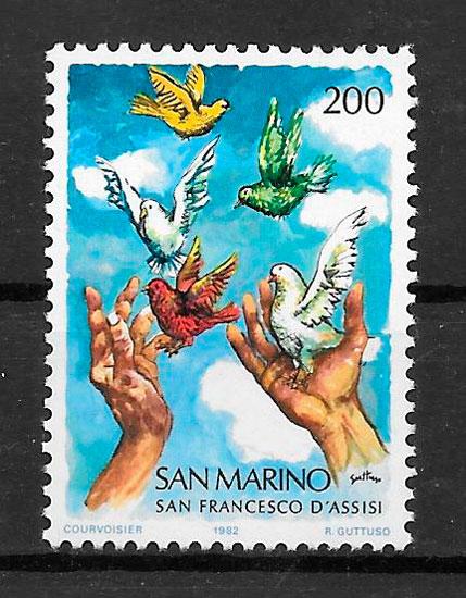 sellos arte San Marino 1982