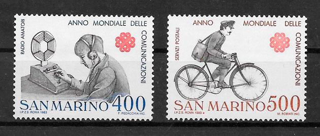 sellos transporte San Marino 1983