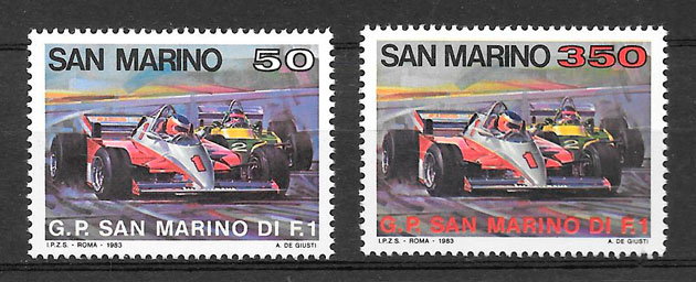 sellos deporte San Marino 1983