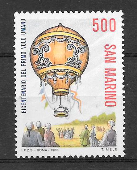 sello transporte San Marino 1983
