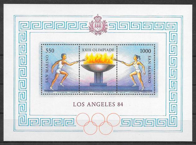 filatelia deporte San Marino 1984