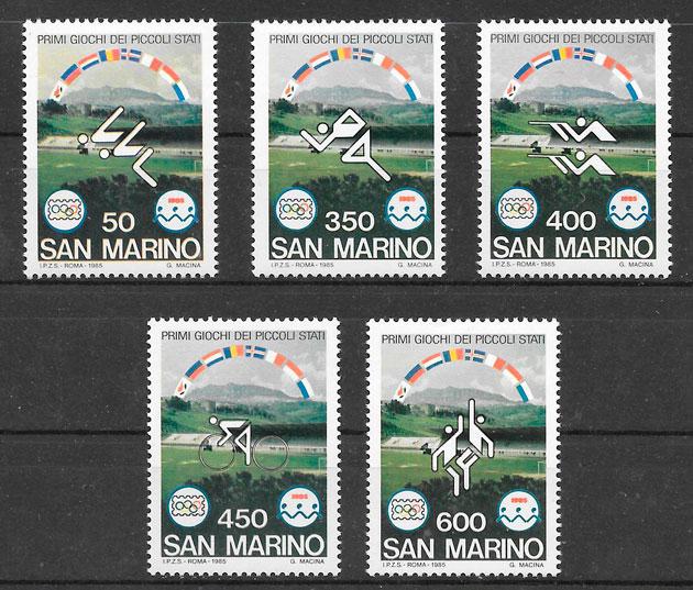 filatelia colección deporte San Marino 1985