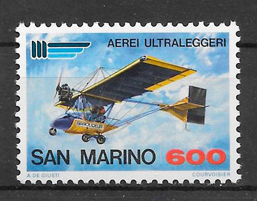 filatelia transporte San Marino 1987
