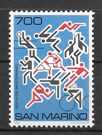 sellos deporte San Marino 1987