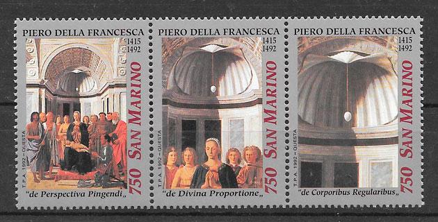 sellos navidad San Marino 1992