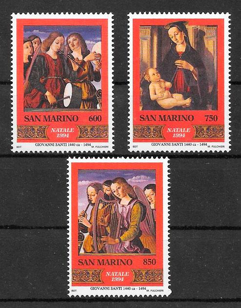 sellos navidad San Marino 1994
