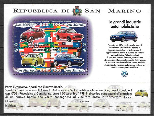 sellos transporte San Marino 1997