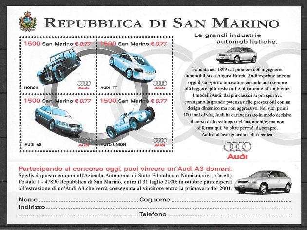 filatelia transporte San Marino 1999