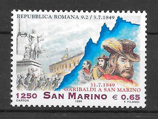 filatelia colección personalidad San Marino 1999