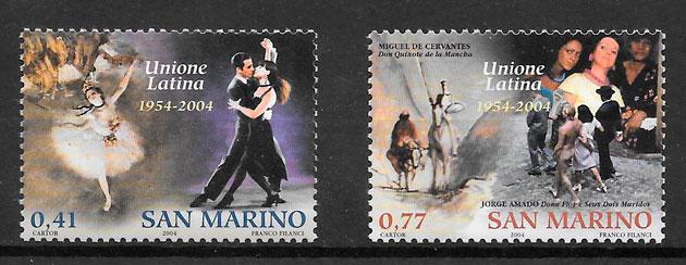 filatelia colección arte San Marino 2004