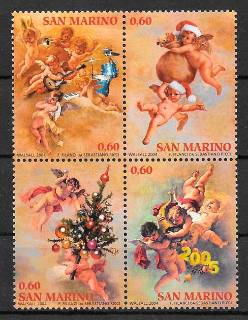 sellos navidad San Marino 2004