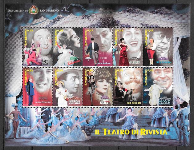sellos arte San Marino 2005