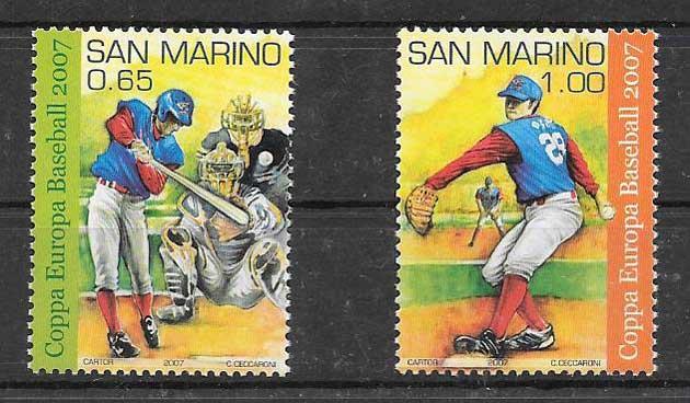 Filatelia sellos Deporte - beisbol San Marino