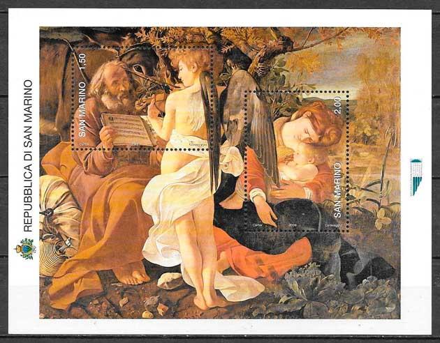 sellos navidad San Marino 2008