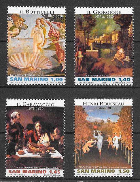 sellos arte San Marino 2010
