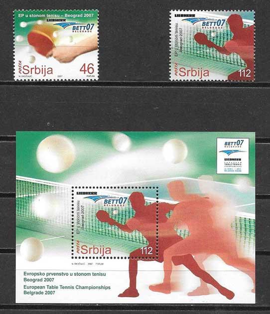 sellos deporte serbia