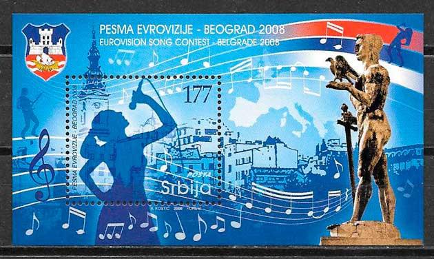 filatelia colección arte Serbia 2008