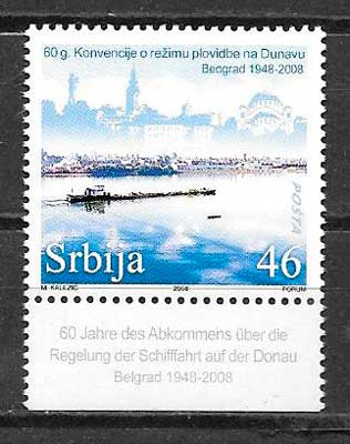 filatelia colección transporte Serbia 2008