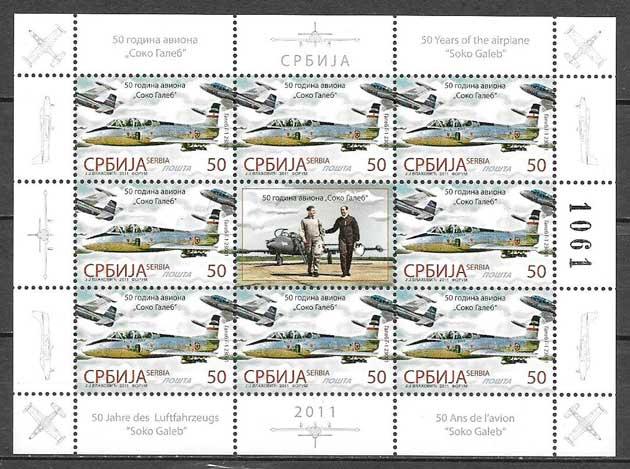 filatelia colección transporte Serbia 2011