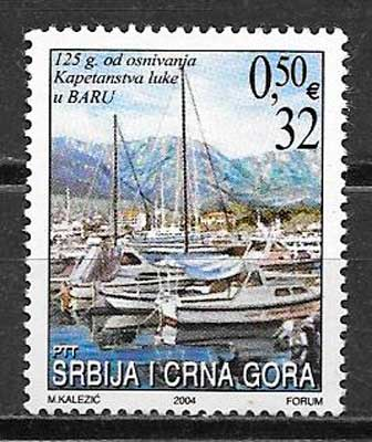 filatelia transporte Serbia y Montenegro 2004