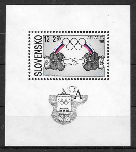 sellos deporte Eslovaquia 1996