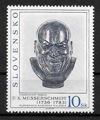 sellos arte Eslovaquia 1996