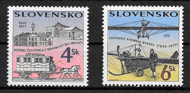 filatelia transporte Eslovaquia 1996