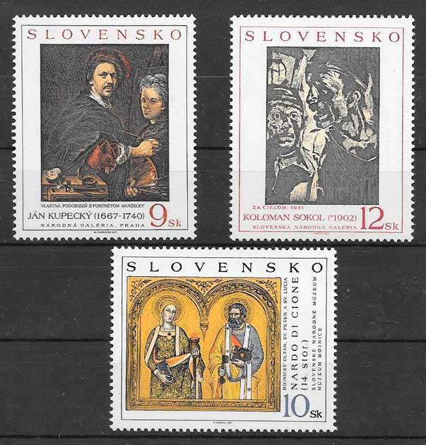 sellos arte Eslovaquia 1997