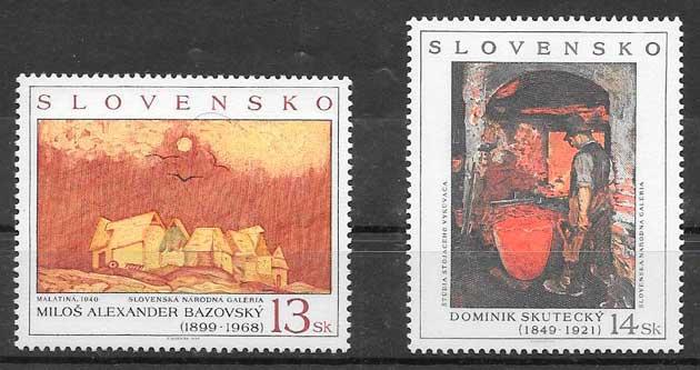 filatelia colección arte Eslovaquia 1999