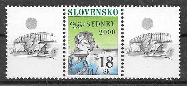 colección sellos deporte Eslovaquia 2000