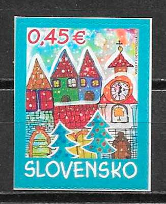 sellos navidad Eslovaquia 2013