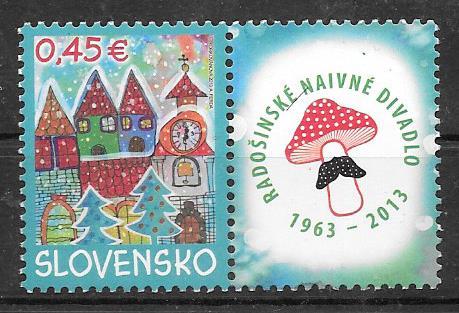 sellos colección navidad Eslovaquia 2013
