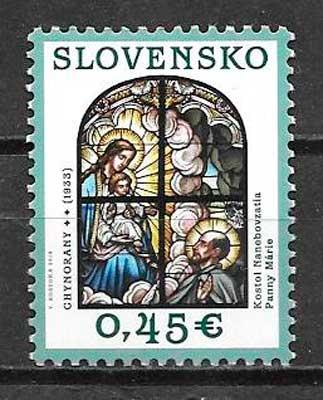 filatelia navidad Eslovaquia 2014