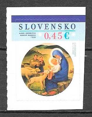 colección sellos navidad Eslovaquia 2015