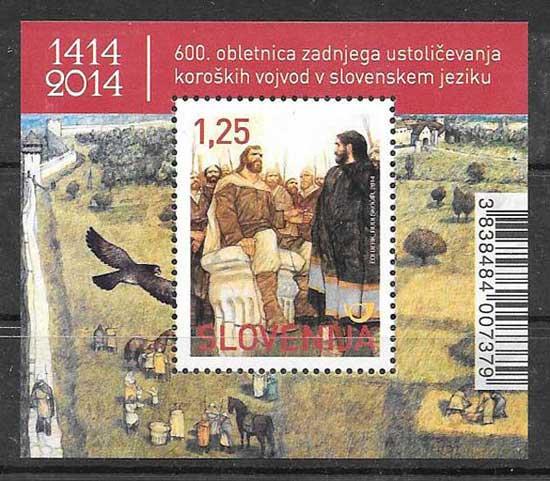 Sellos cuentos Eslovenia 2014
