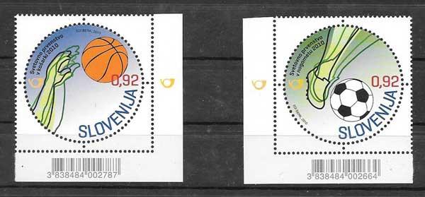 Colección sellos Campeonatos mundiales Slovenia 2010