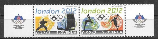 Sellos Juegos Olímpicos Londres 2012