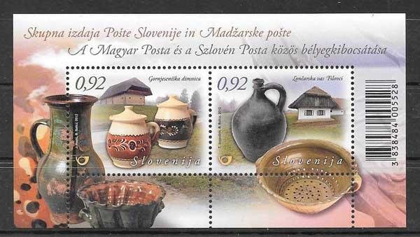 Colección sellos artesanía de Eslovenia 2012