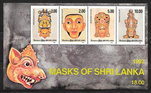 sellos arte Sri Lanka 1992