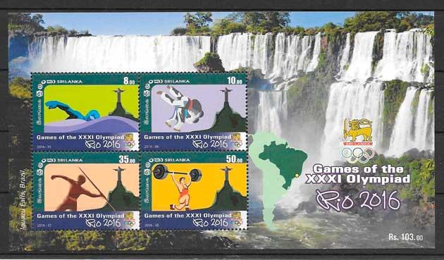 colección sellos deporte Sri Lanka 2015